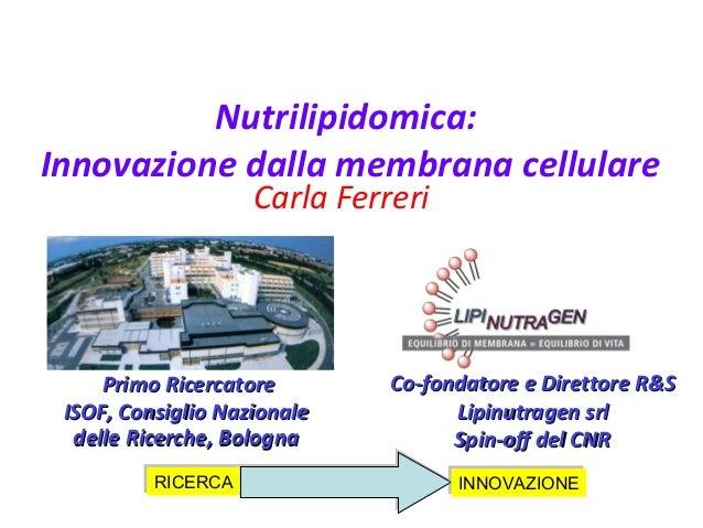 Nutrilipidomica: innovazione dalla membrana cellulare