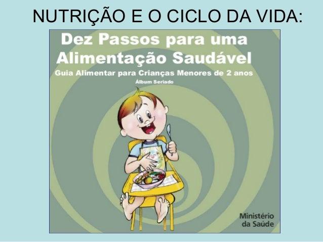 NUTRIÇÃO E O CICLO DA VIDA: Christianne de Vasconcelos Affonso Nutricionista Mestre em Ciência dos Alimentos Doutor em Tec...