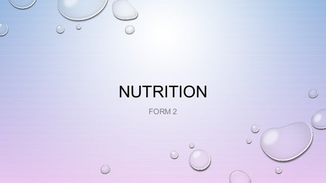 NUTRITION FORM 2