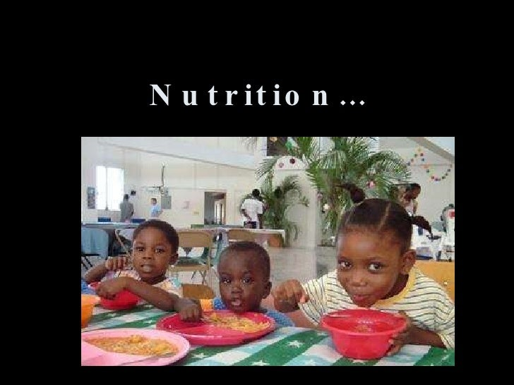 Nutrition…