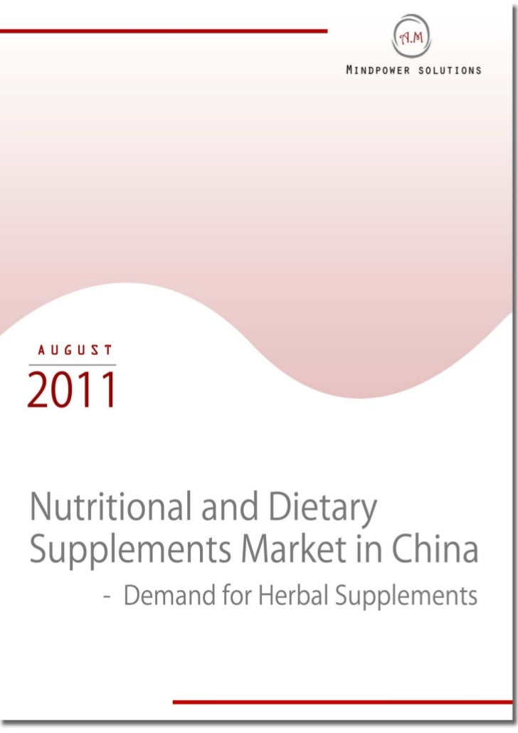 Nutritional and Dietary Supplements Market in China - Demand for Herbal Supplements