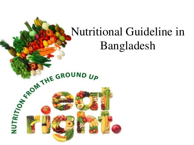 Nutritional Guideline in      Bangladesh