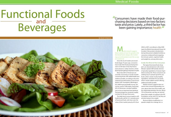 "Medical Foods     Functional Foods        and                                 ""Consumers have made their food-pur-        ..."