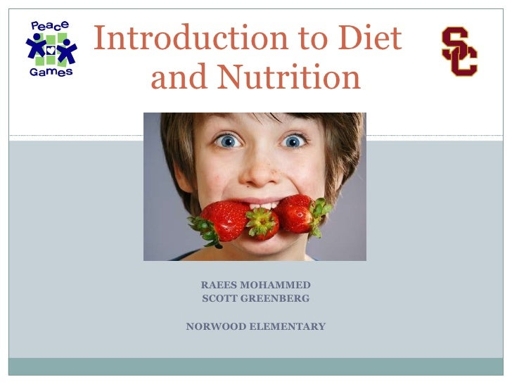 Powerpoint presentation on healthy eating habits