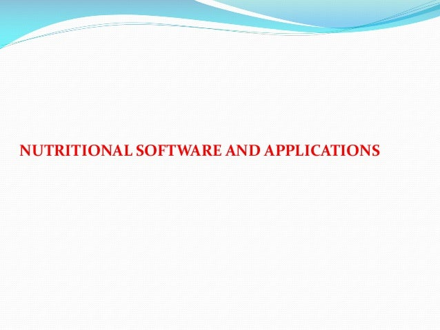Nutritional software