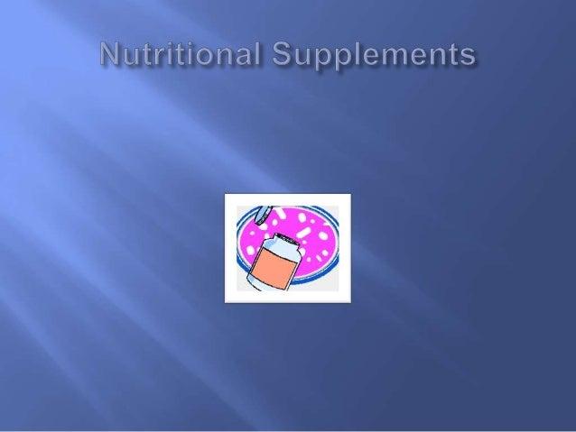 Nutritional supplements hw499unit4assignment