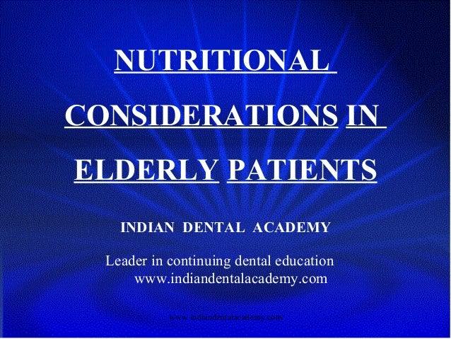 Nutrition / orthodontic seminars