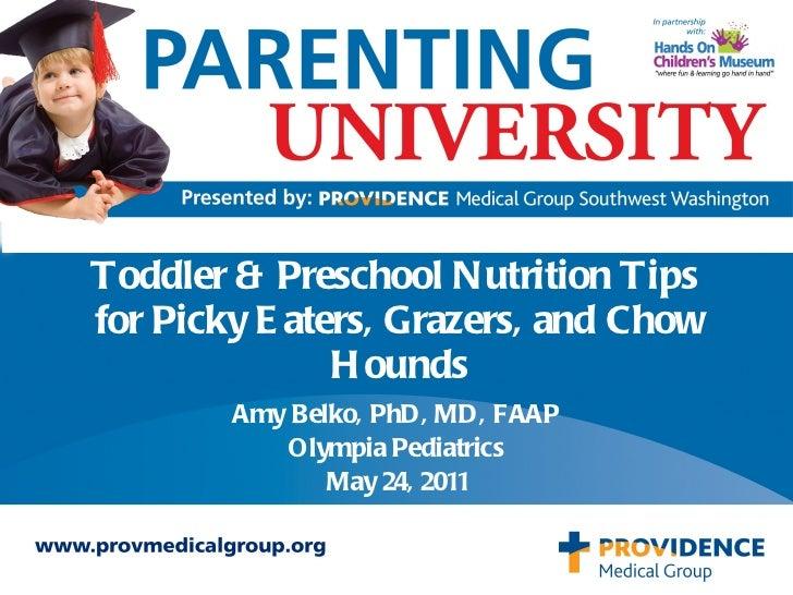 Parenting U: Child Nutrition
