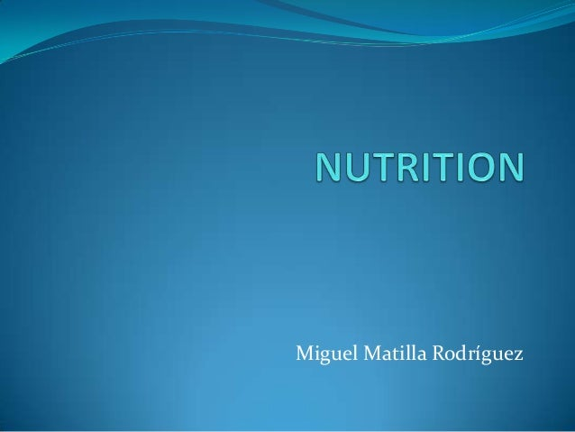 Nutrition by Miguel