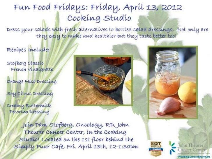 Fun Food Fridays - Salad Dressing