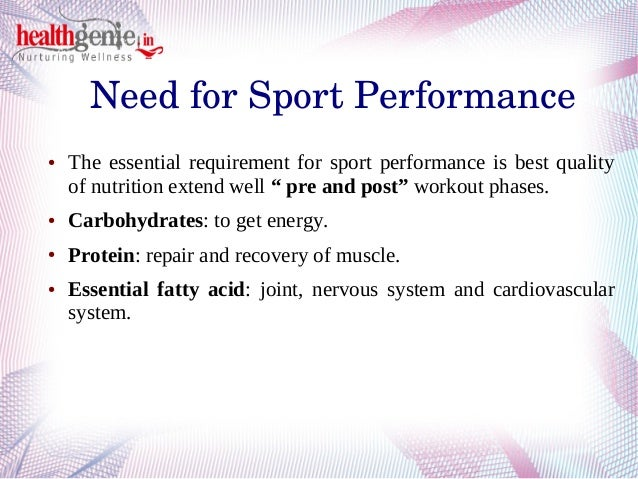 Importance Of Sports Nutrition Healthgenie