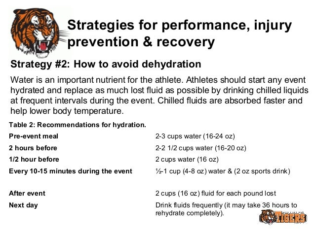 how can nutrition and recovery strategies