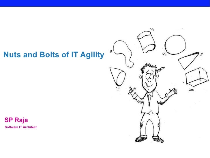SP Raja Nuts and Bolts of IT Agility Software IT Architect