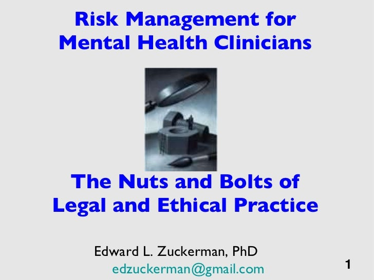 Risk Management for Mental Health Clinicians