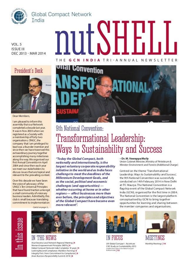 NutShell – GCNI Tri-annual Newsletter Dec 2013 - March 2014