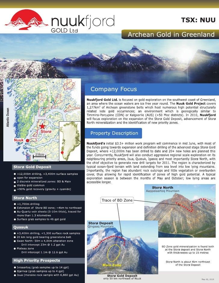 Nuukfjord Gold Factsheet