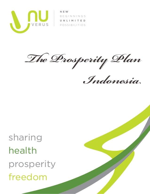 The Prosperity Plan            Indonesiasharinghealthprosperityfreedom