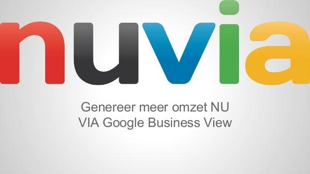 NU meer klanten, VIA Google Business View