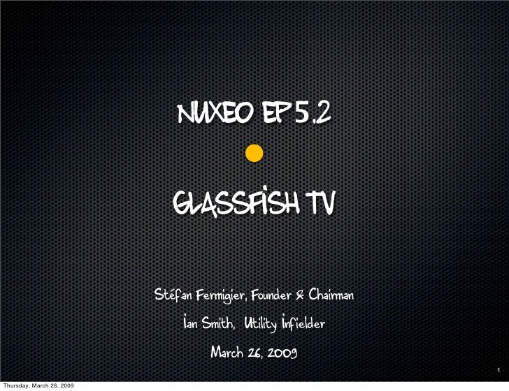 Nuxeo 5.2 Glassfish
