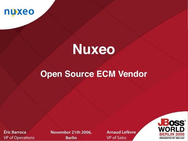 Nuxeo: an Open Source ECM software vendor