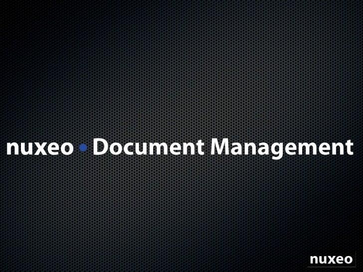 Nuxeo Document Management Fr