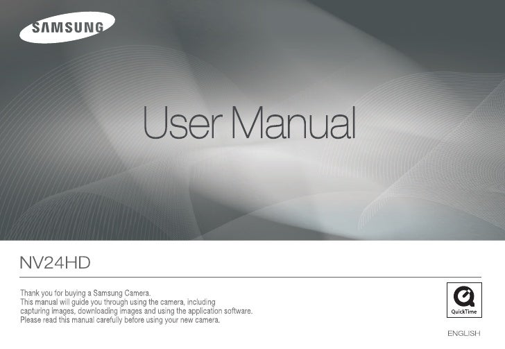 Samsung Camera NV24HD User Manual
