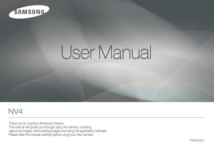 Samsung Camera NV4 User Manual