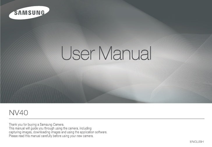 Samsung Camera NV40 User Manual