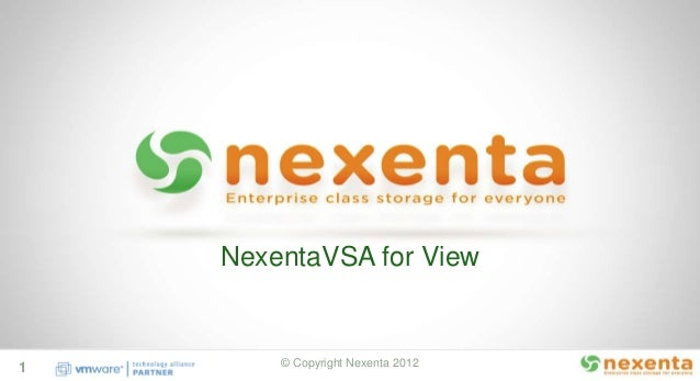 Nexenta NV4V v2.0 Features