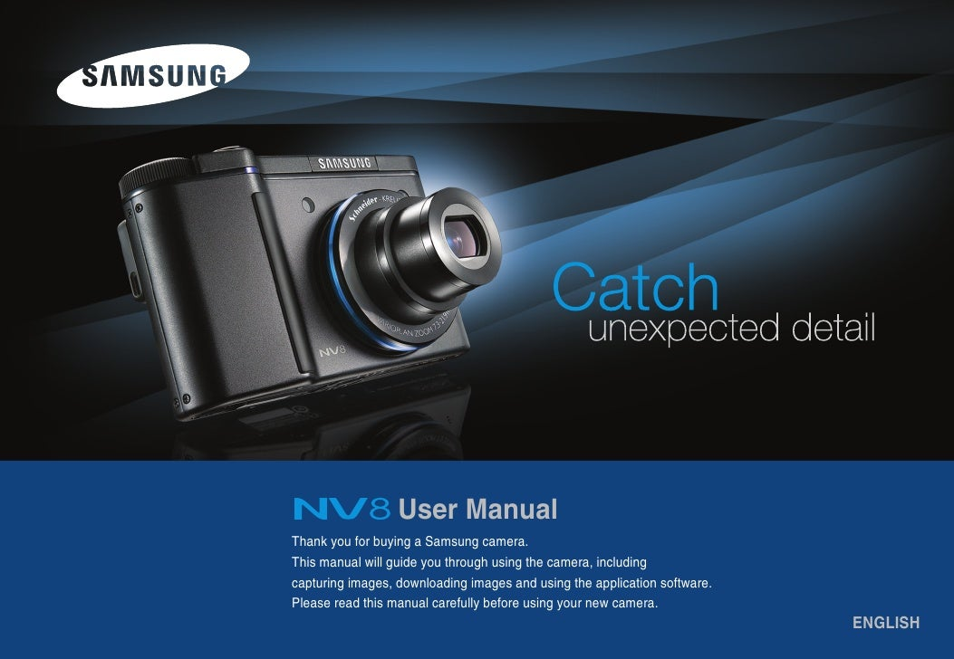 User Manual Thank you for buying a Samsung camera. This manual will guide you through using the camera, including capturin...