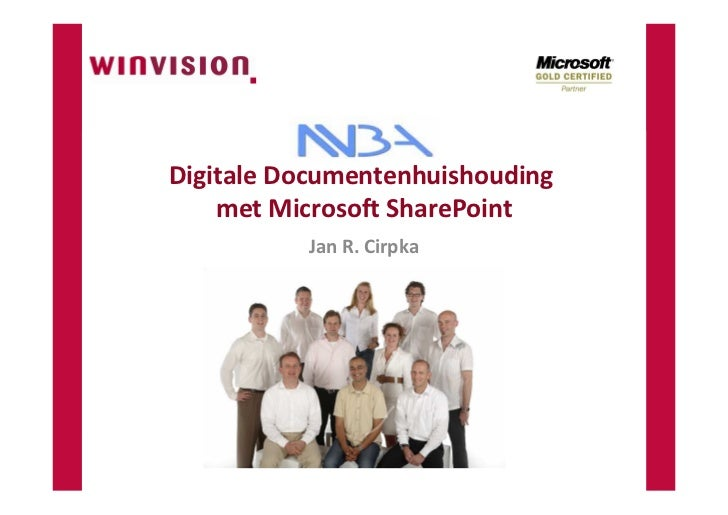 SharePoint Digitale Documentenhuishouding NVBA