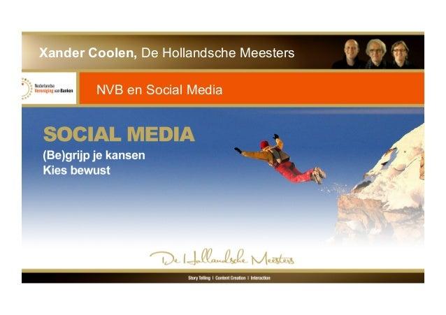 Social Media en de Bankensector, Keynote voor de NVB