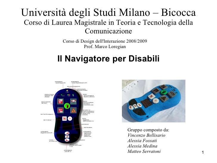 Università degli Studi Milano – BicoccaCorso di Laurea Magistrale in Teoria e Tecnologia della                  Comunicazi...