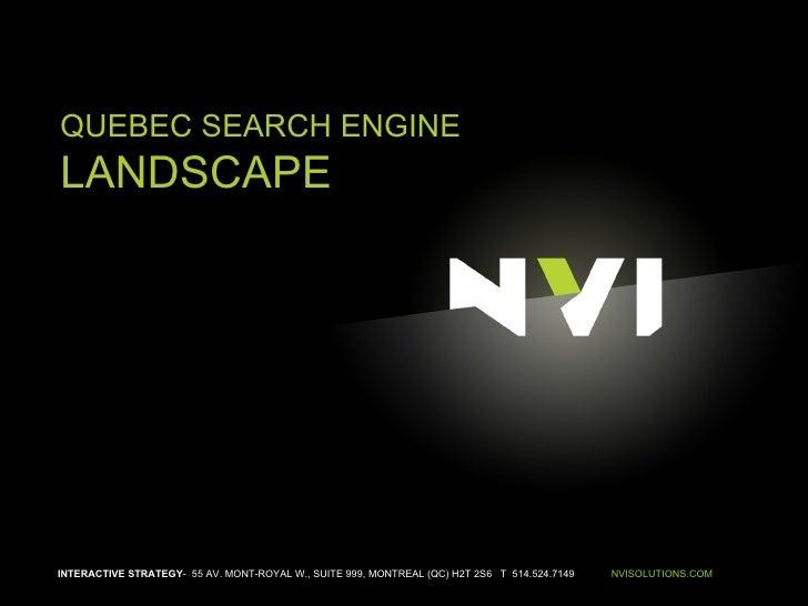 Canadian Search Landscape | NVI (July 6th 2008)