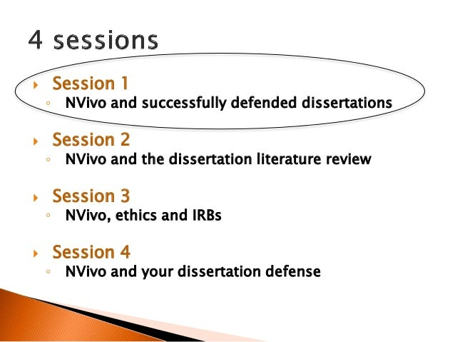 Defending your dissertation proposal