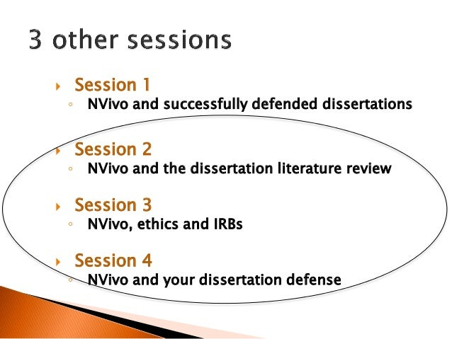 How To Defend Your Dissertation