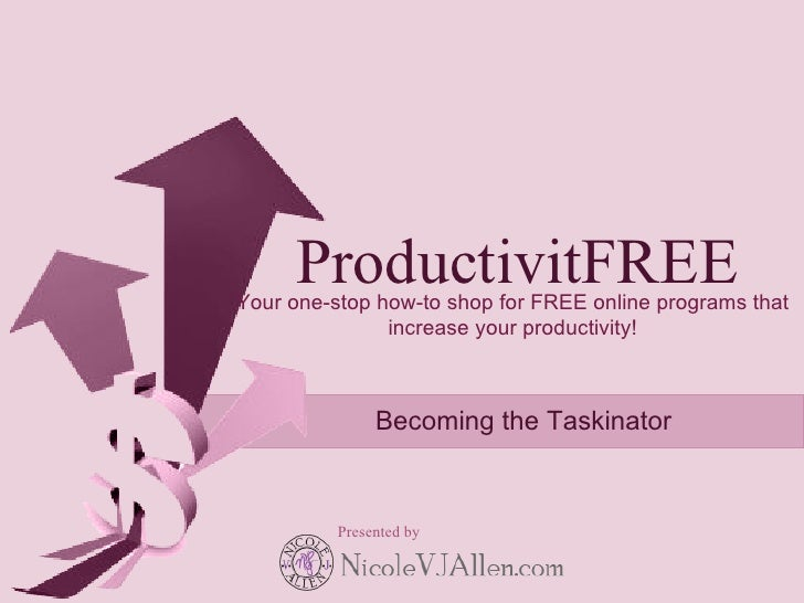 ProductivitFREE Your one-stop how-to shop for FREE online programs that                increase your productivity!        ...