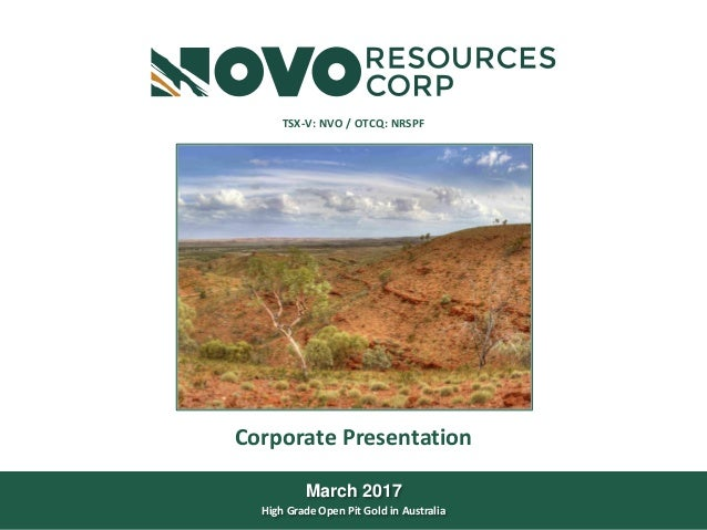 TSX-V: NVO|OTCQX: NSRPFwww.novoresources.com October 26, 2015 This document is for information purposes only and is not an...