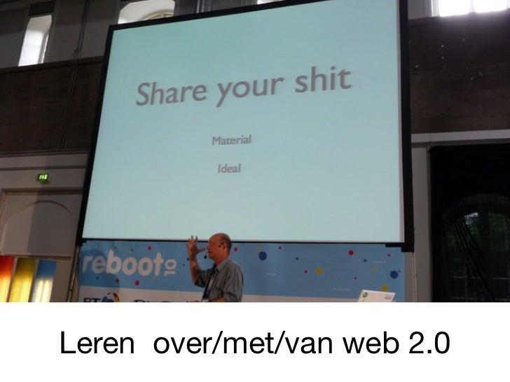 Leren over/met/van web 2.0