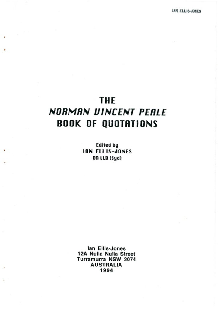 THE NORMAN VINCENT PEALE BOOK OF QUOTATIONS