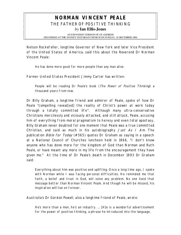norman vincent peale the power of positive thinking pdf download
