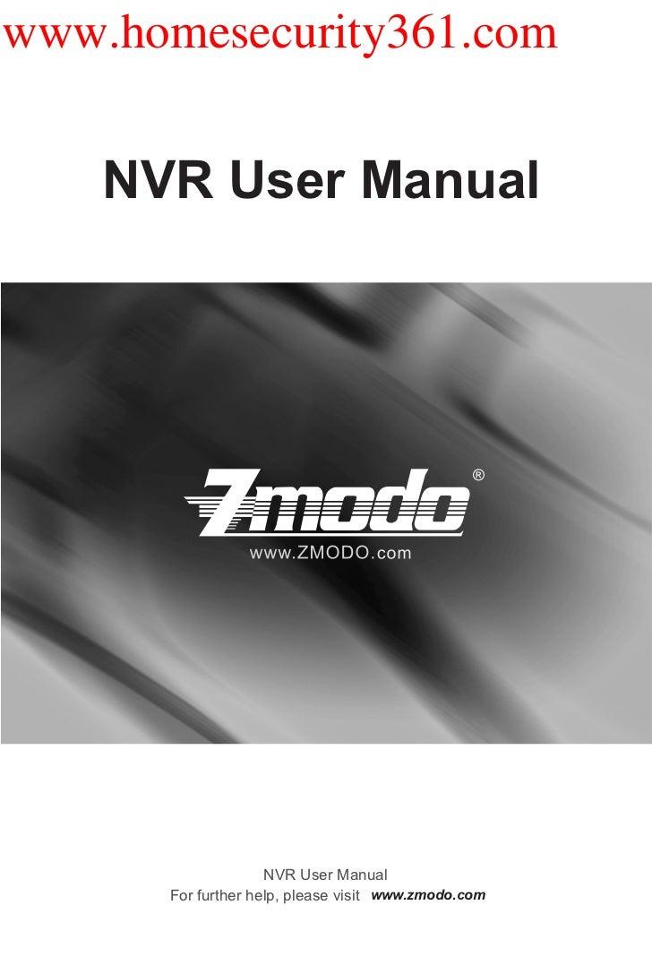 Nvr user manual