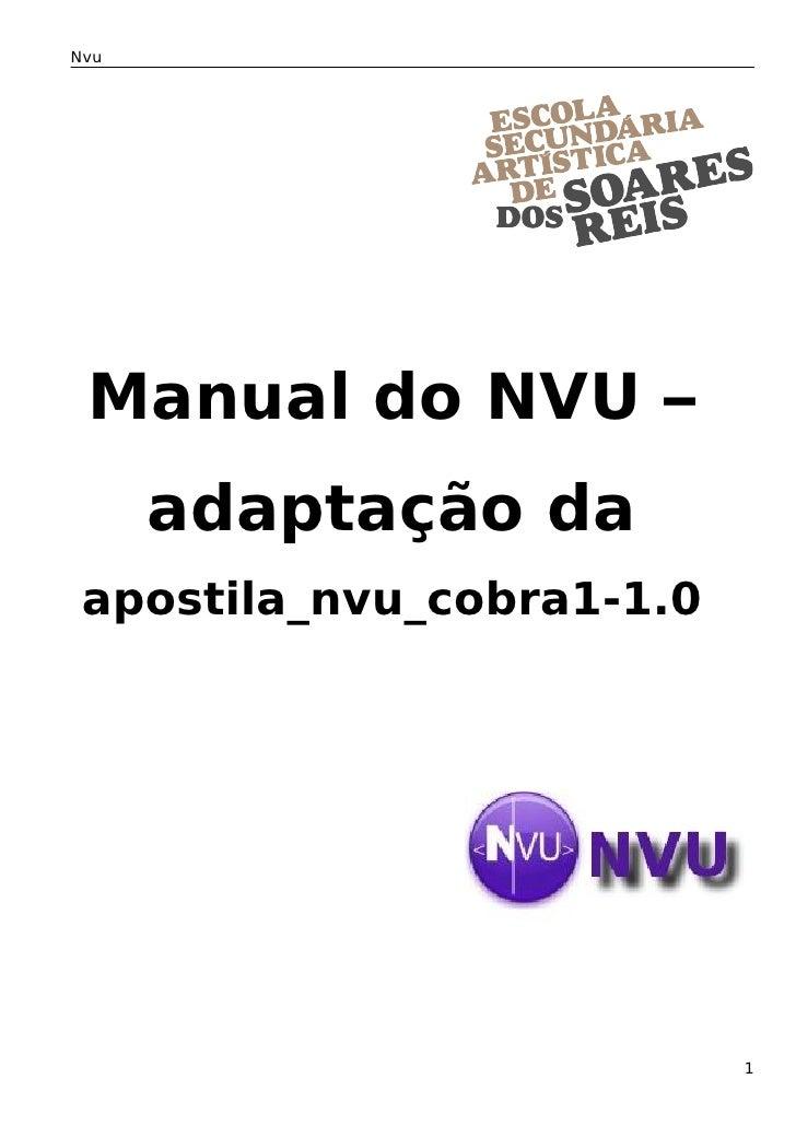 Nvu      Manual do NVU –       adaptação da  apostila_nvu_cobra1-1.0                                1