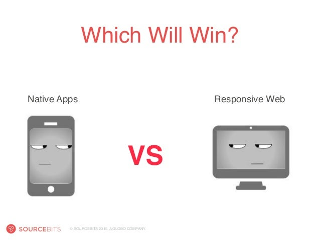 © SOURCEBITS 2015. A GLOBO COMPANY. Which Will Win? VS Responsive WebNative Apps