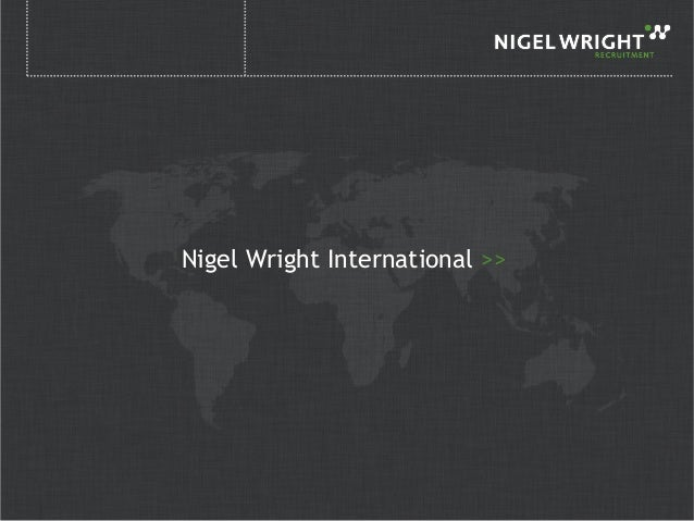 Nigel Wright Consumer Division Presentation 2013