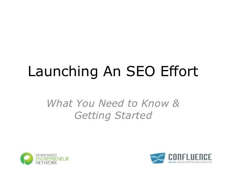 Launching Your SEO Effort