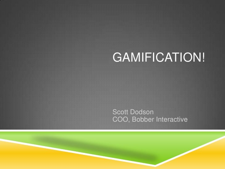 Gamification - NWEN breakfast 7.9.10