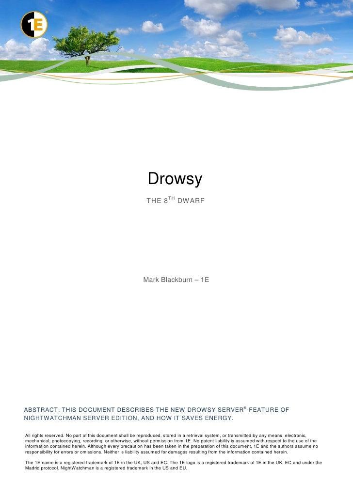 Drowsy - the 8th dwarf
