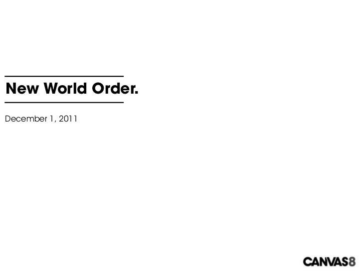 New World Order.December 1, 2011