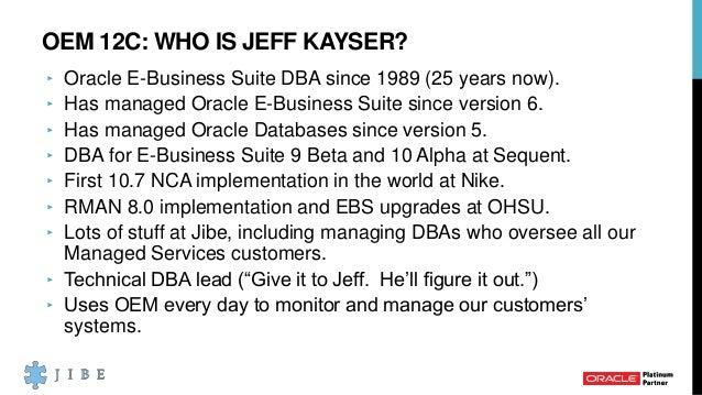 e Business Suite Oracle Enterprise Manager Oracle e Business Suite Dba